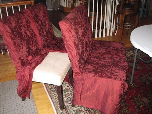 4 Parsons chairs VG condition
