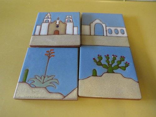 """Four 3"""" Tiles"""