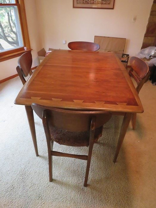 MCM Lane Dining table 4 chairs, chairs need cleaning up and recovering