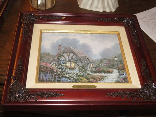 "Two Thomas Kinkade prints 16 x 13"" frames"