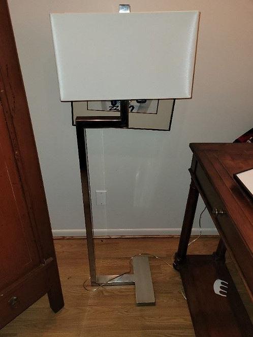 """Three Chairs Chrome Lamp - 55"""""""