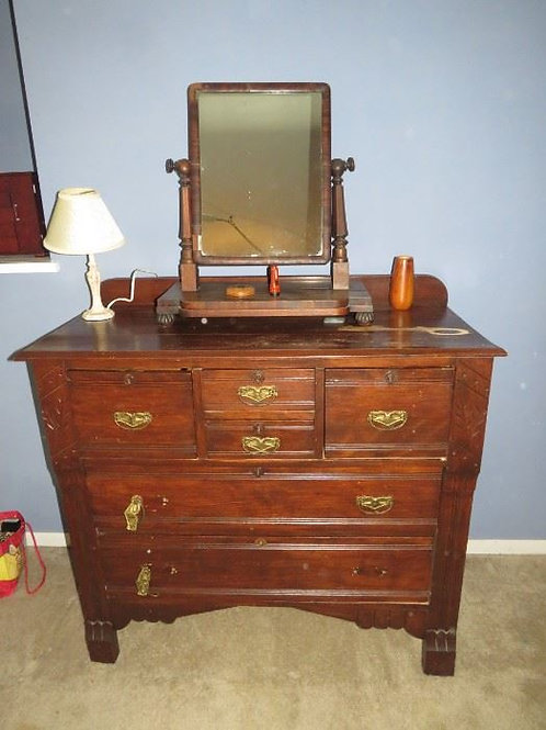 Antique dresser kind of rough (does not include mirror)