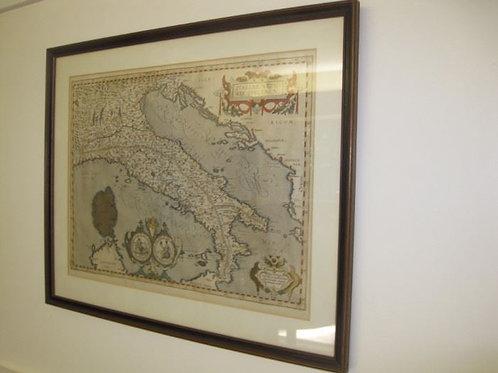 """Italiae Veteris Specimen, after Abraham Ortelius, good condition 14.25"""" x 19.25"""