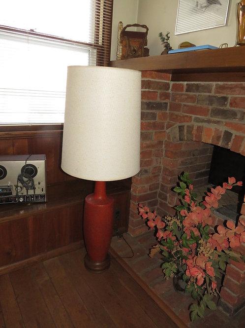MCM Lamp Rust Pottery