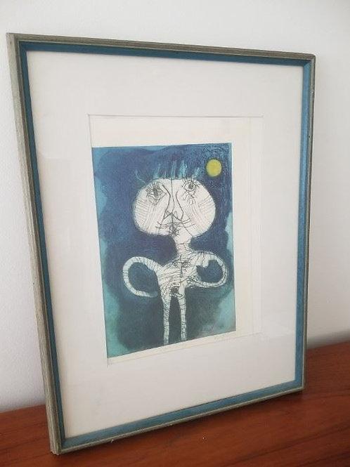 """Color etching, 13/25, by Fernando ramos prida, """"duranti el viaje"""""""