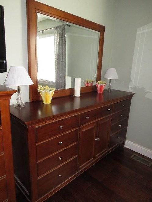 Thomasville Dresser and mirror 6' wide