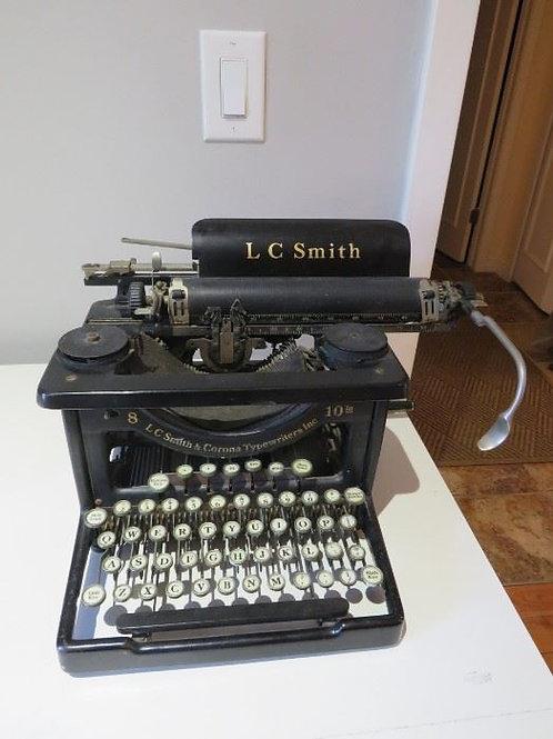 L. C. Smith Typewriter, 8/10