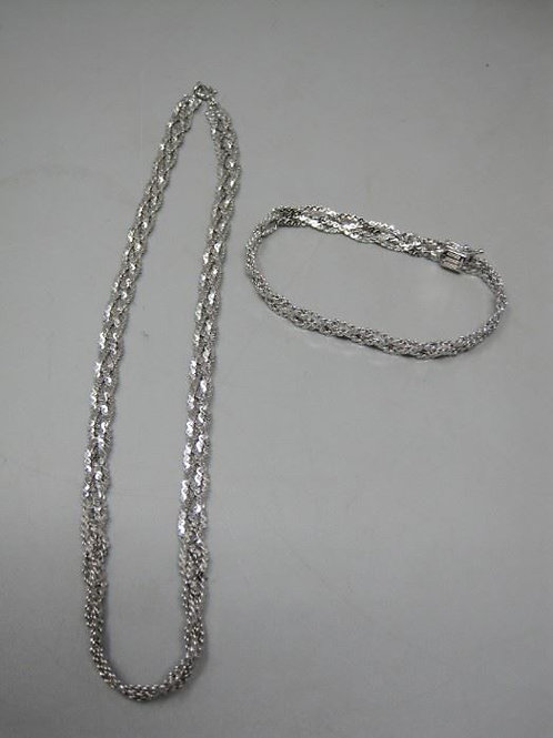 """Sterling Silver 16 """" necklace and 7.5"""" bracelet combo"""
