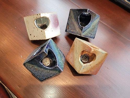 "Four Studio Art Pottery 2"" Flower Frogs - Dark"