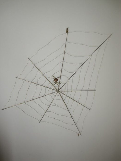 Spider web sculpture 26""