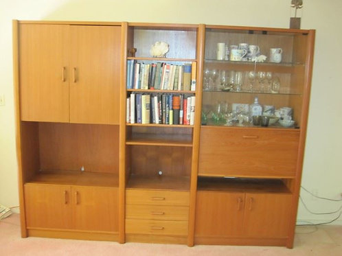 MCM Teak, China Cabinet, VG condition