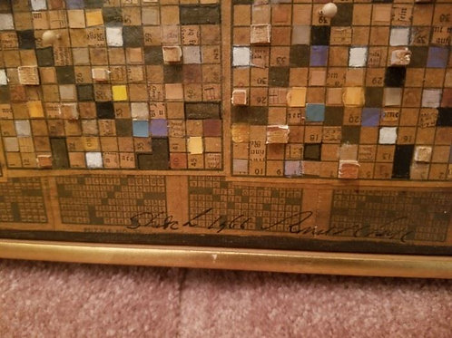 1966, 13 x15, crossword puzzle by Ronald Chase, mixed media