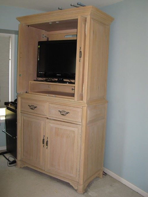 "Thomasville wardrobe, lower doors need adjustment, 86"" tall 46"" w"