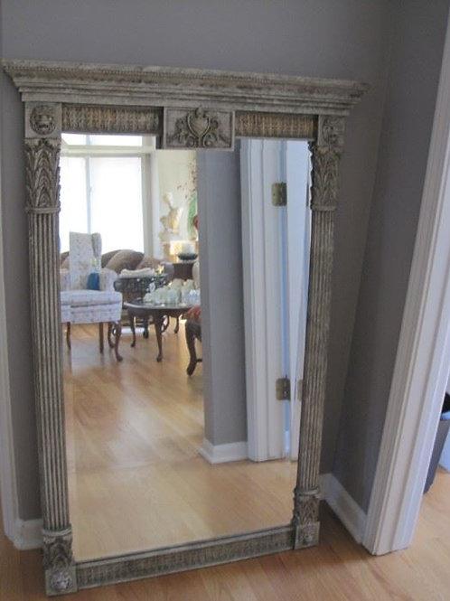 "Large Resin Framed Mirror 34 x 50"""