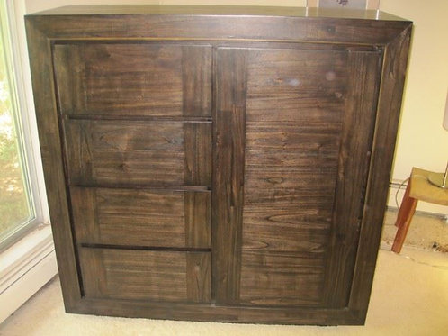 Black wash contemporary Wardrobe, VG condition