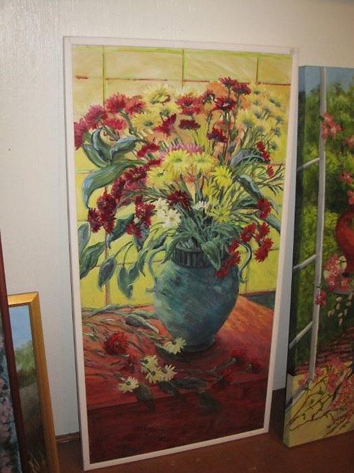 "Green Vase by J. Coates 50/24"""