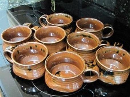 Studio pottery soup bowls
