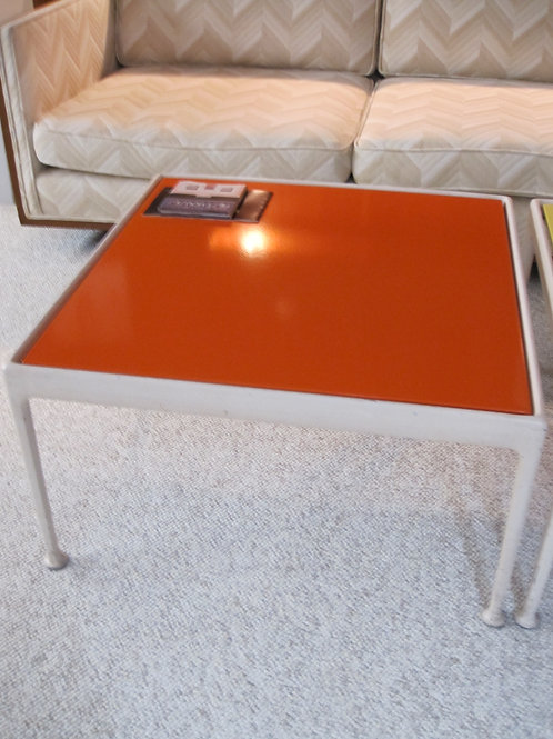 Knoll Orange table legs show average wear
