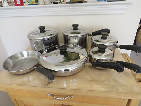 Set of Revere ware good to very good condition