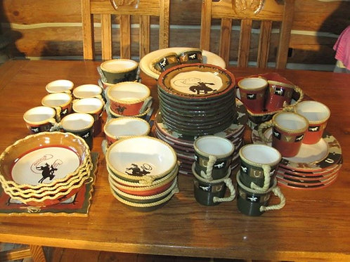 Large lot of Sonoma Western dishes