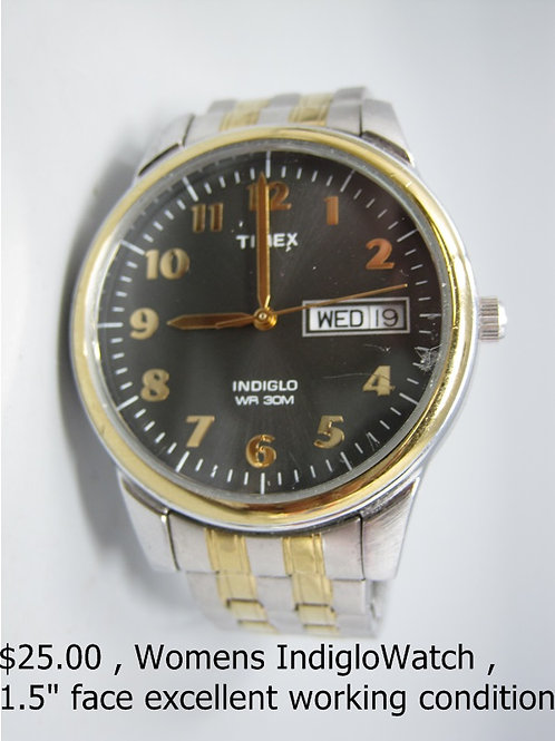 """WOMEN'S INDIGLO WATCH 1.5"""" FACE"""