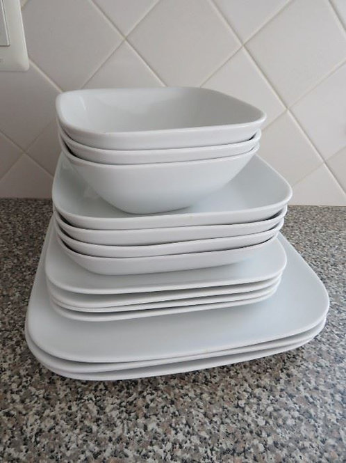 Loft by Over and Back dinner plates and bowls excellent condition