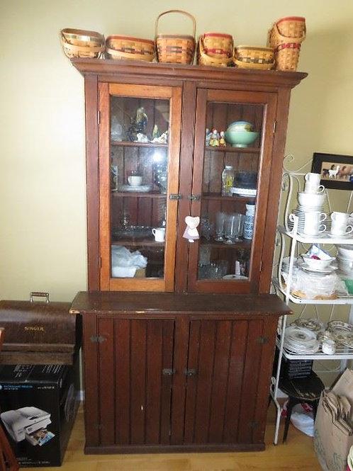 "Primitive Cabinet shows vintage wear 80' tall x 45"" wide"