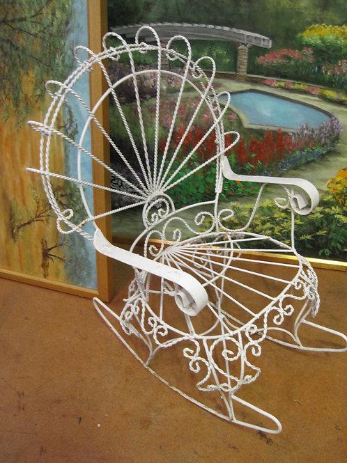 Child's Wire rocking chair vg condition