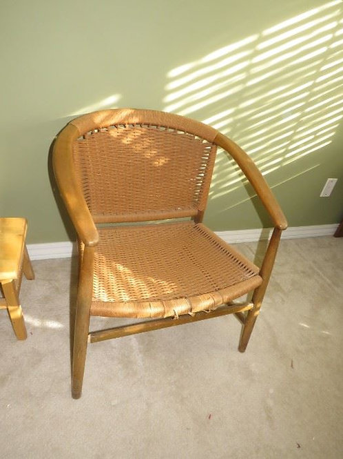 Caned MCM chair, needs a little restringing