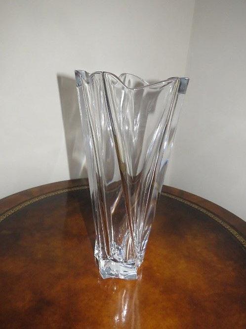 """Heavy Mikasa Crystal 14"""" Vase"""