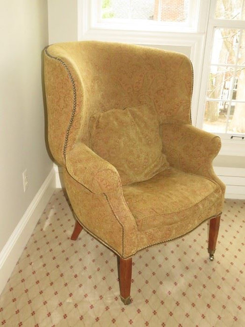 Drexel Heritage Lillian August Collection Curved Wing Back Chairs
