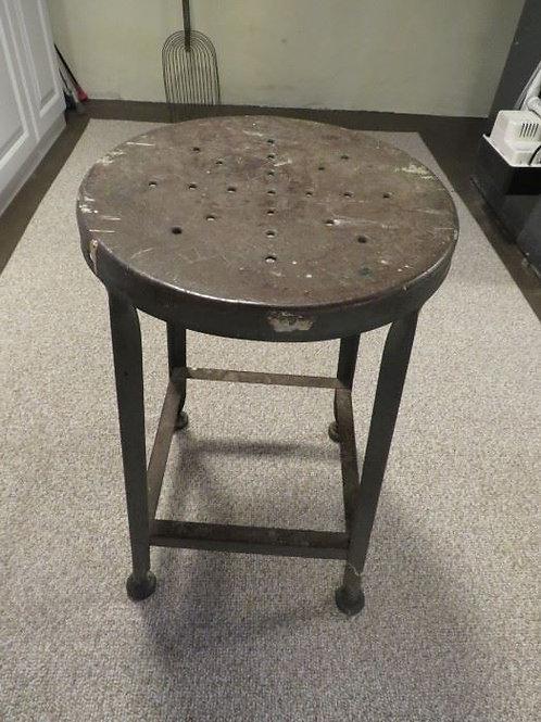 Vintage steel stool, 2' tall