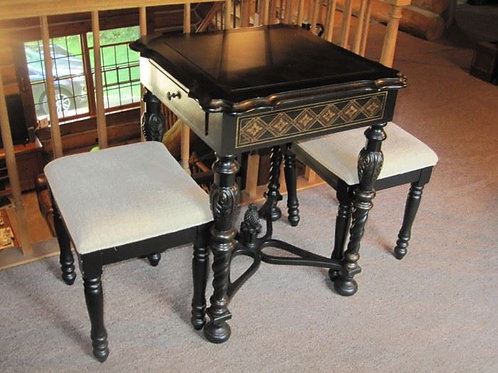 Black Lacquer game table
