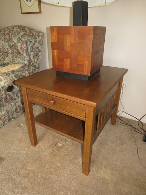 Mission Oak style side table