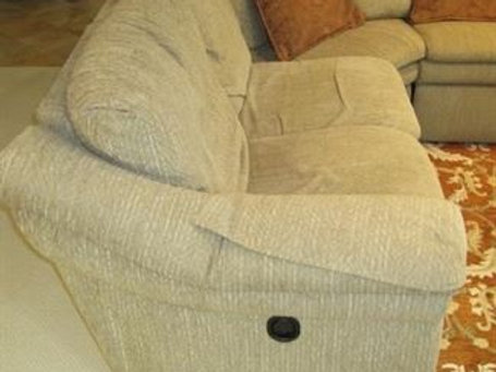 """Lazy Boy sectional 3' tall, 8' deep, & 55"""" extension"""