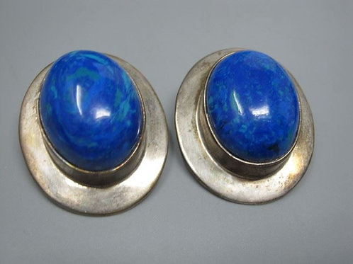 """Vintage Mexico Sterling clip earrings signed 1.75"""""""