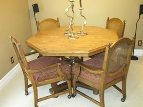 "Oak game table , 47"" across"
