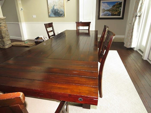 """42 w x 10' with leave 72"""" w/o. 6 chairs and optional bench Vg condition"""