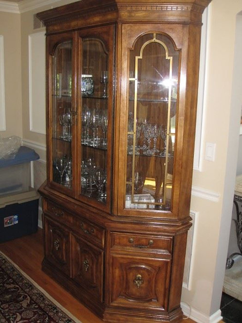 "Thomasville China cabinet, 82""T & 64""W"