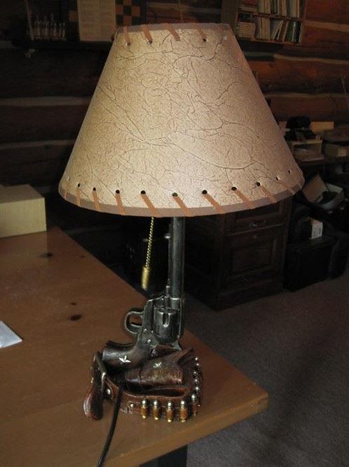 """Resin Western Gun Lamps 22"""""""