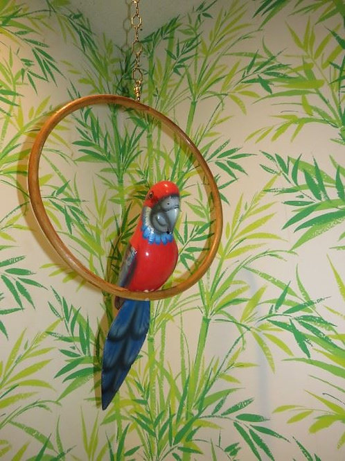 """18"""" wood Parrot, VG condition"""