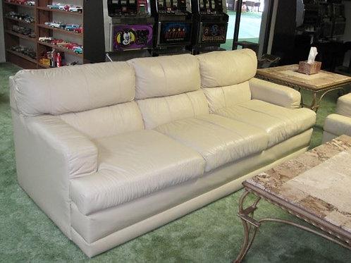 "Stratford Leather sofa 81 x 37"" deep VG condition"