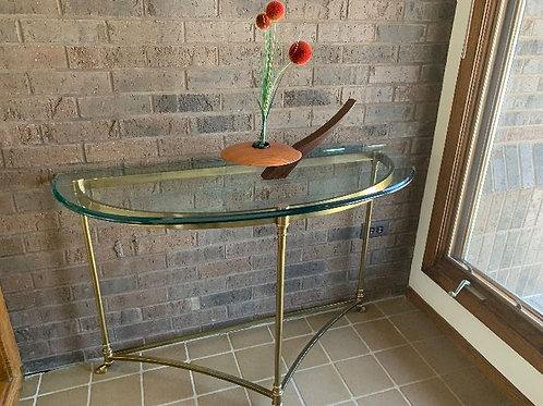 "Henredon glass top entry or sofa table 4' x 36"""