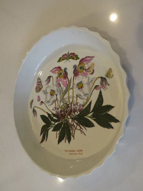 Christmas Rose Quiche Dish
