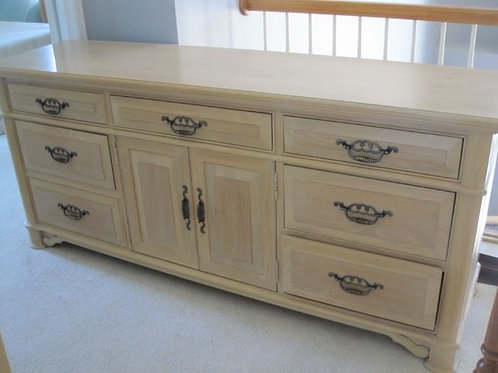 "Thomasville dresser with mirror, 6'x 31""t x 19""d"