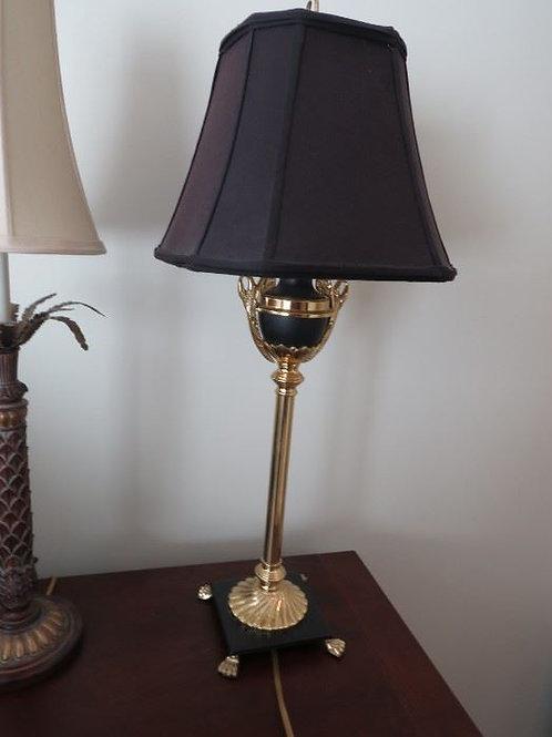 "Black Brass lamp 29"" VGC"
