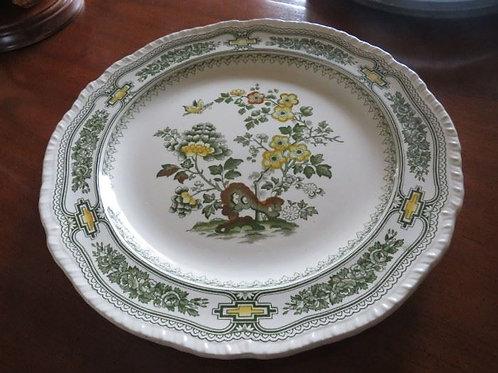 Mason's Large Green Manchu round platter