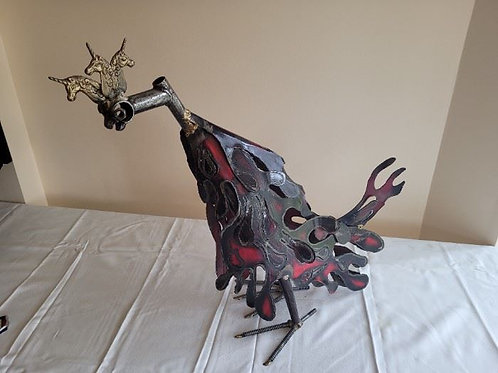 Nuts & Bolts Industrial Metal Rooster by Peterman