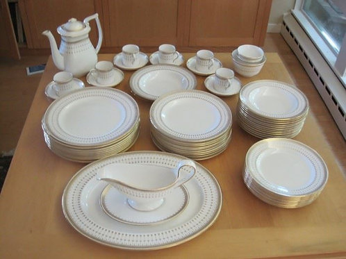 Spode Queen's Gate Service for 10, but only 6 tea cups and coffee pot. VG