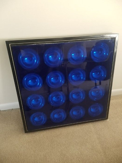 23 x 23, wood,glass,plastic by Toshio Iwasa, front panel needs regluing